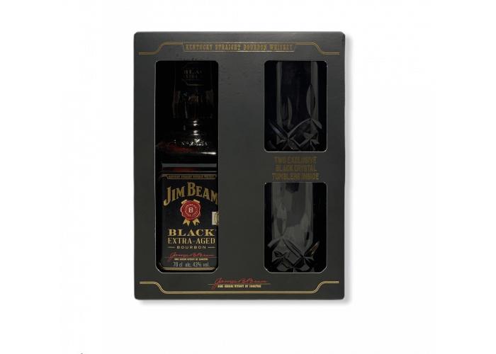 Jim Beam Black 0.7L + 2 Glass