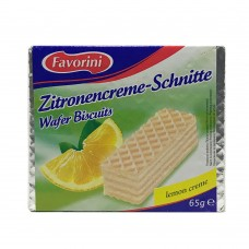 Favorini Zitronencreme - Schnitte Wafer Biscuits lemon creme