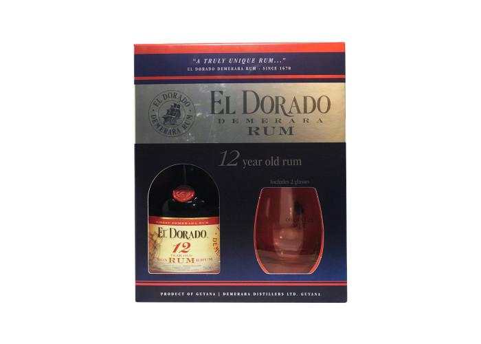 El Dorado 12 Y.O. 2 glasses