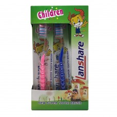 Lanshare Children Tooth Brush (Blue,Pink)