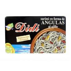 Didi surimi en forma de Angulas al ajillo