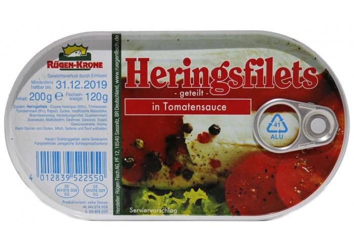 Heringsfilets in Tomatensauce (Rugen-Krone)
