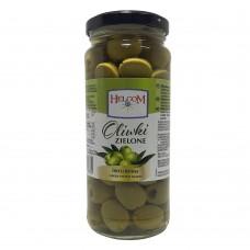 Helcom Oliwki Zielone Drylowane Green Pitted Olives