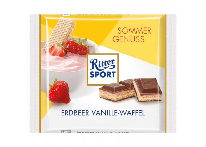 Erdbeer Vanille-Waffel